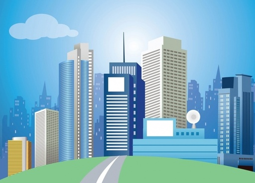 Modern City Vector Art