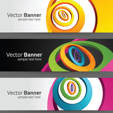 modern colored banner vector