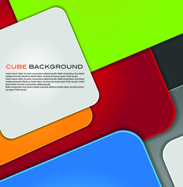 modern cube background vector graphics