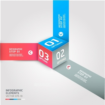 Modern cube Infographics banner template