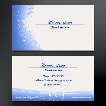 modern design business cards vector set