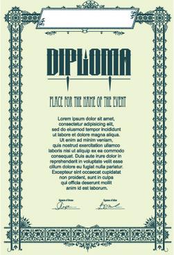 modern diploma template vector