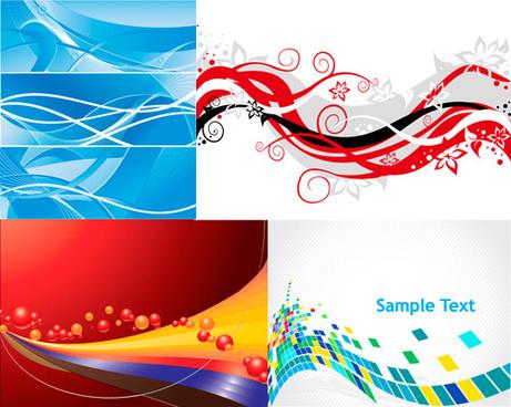 modern dynamic background design vector