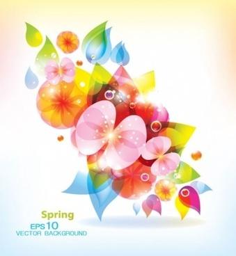 modern floral spring background vector