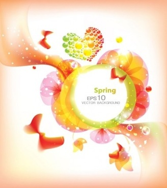 modern floral spring background vector