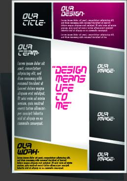 modern flyers and brochure design vector