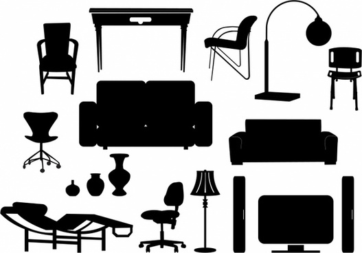 Modern Furniture Silhouettes