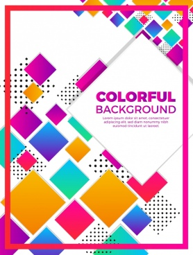 modern geometric background colorful squares design