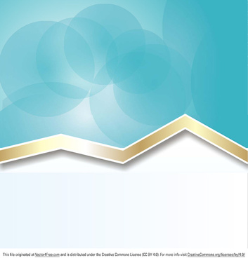 modern gold ribbon background vector