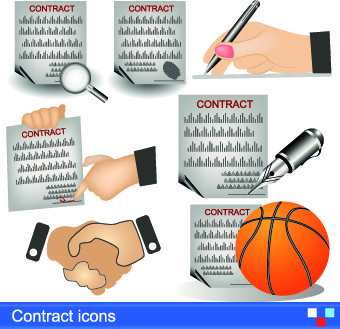 modern icons objects vector set