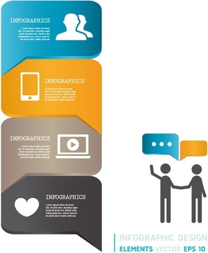 Modern infographics bubble speech template style