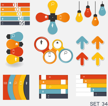 modern infographics elements illustration vector
