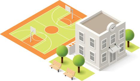 modern isometric buildings model vector