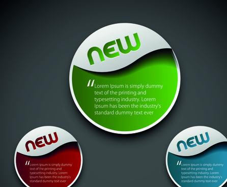 modern labels for you text vector