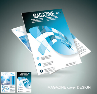 modern magazine abstract cover vector