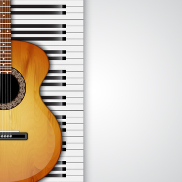 modern musical instruments backgrounds vector