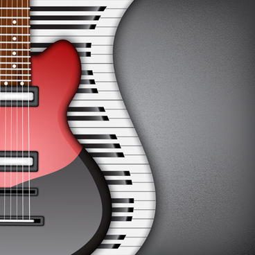modern musical instruments backgrounds vector