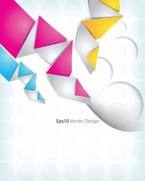 modern origami art background vector