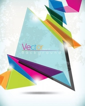 modern origami with grunge background vector