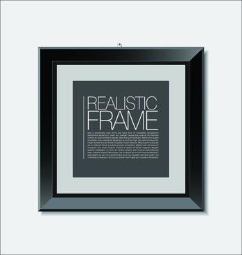 modern photo frame shiny vector set