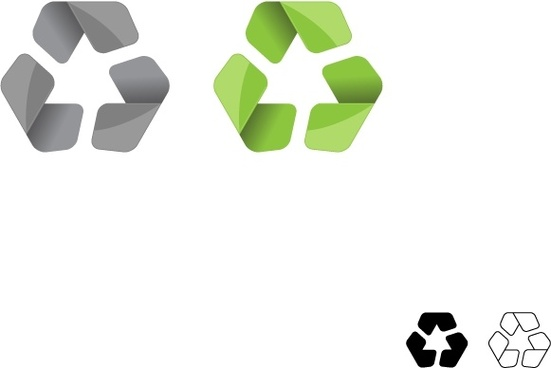 Modern Recycle Symbol Vector
