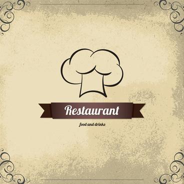modern restaurant menu design graphic set