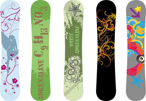 modern snowboard vector template design