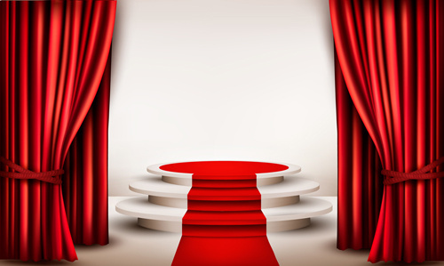 modern stage creative design vector