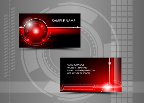 modern style abstract business cards vector