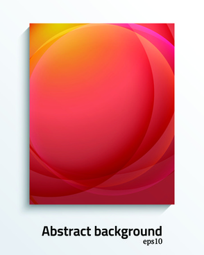 modern style cover abstract background vector