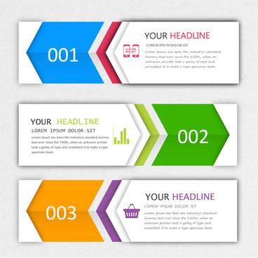 modern style infographic banner design sets