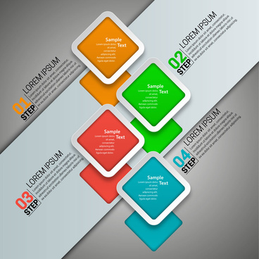 modern style infographic design with squares illustration