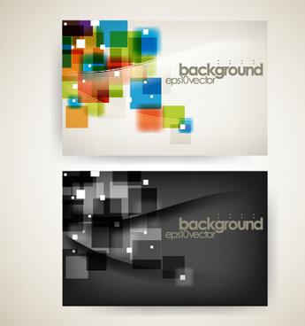 modern tech background business cards vector