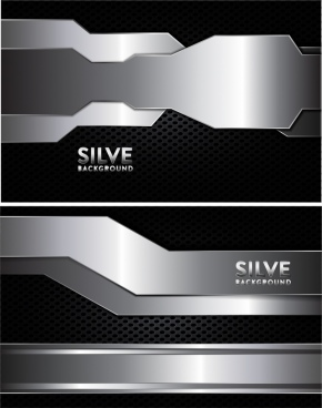 modern technology background shiny silver decoration