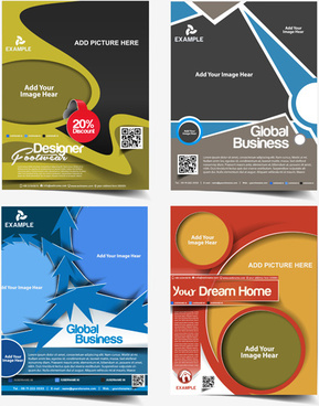 modern templates flyer cover vector