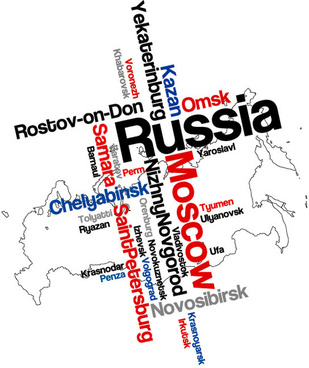 modern text with map vector
