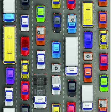 modern traffic jam vector design