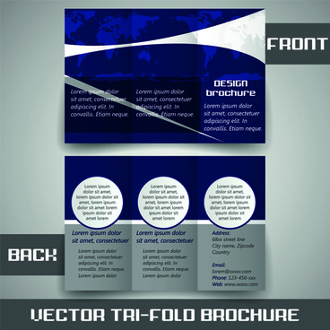 modern tri fold business brochure cover vector