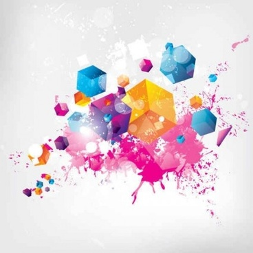 modern with colored grunge background vector