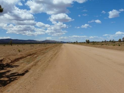 mojave desert joshua tree national park road