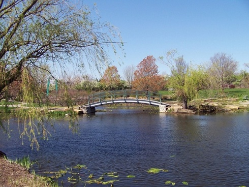 monet bridge in park