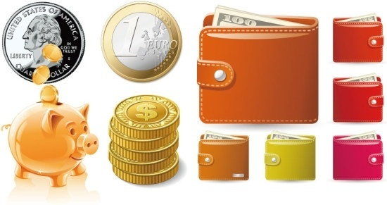 money theme of vector