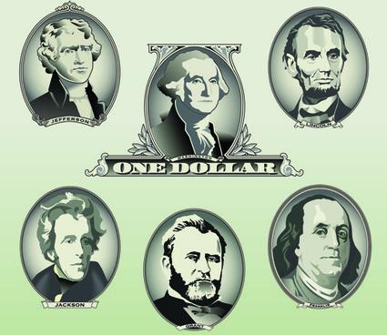 money with dollars head portrait vector