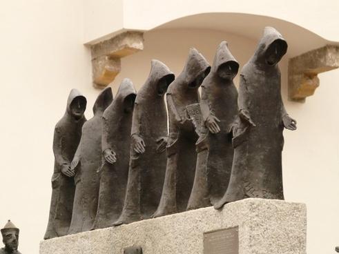 monk monks sculpture