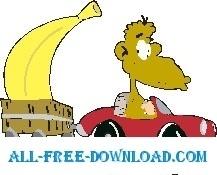 Monkey with Large Banana 1