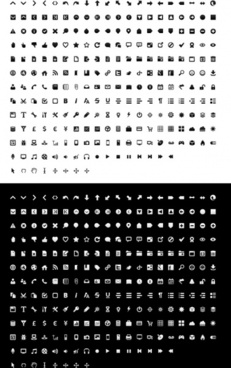 mono icon set icons pack