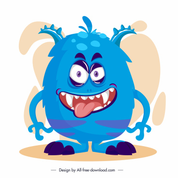 monster icons funny scary cartoon character sketch