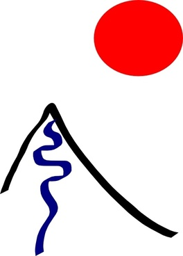 Montain And Sun clip art