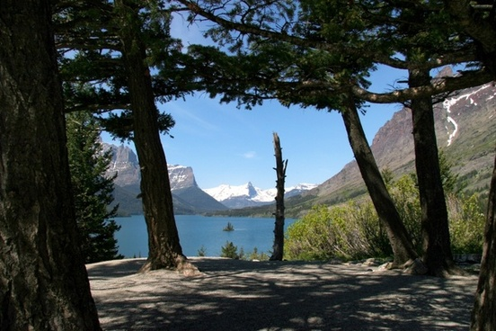 montana glacier national park mountains