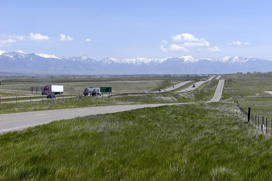 montana highway scenery